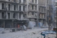Zerstörtes Aleppo. Foto Malteser International